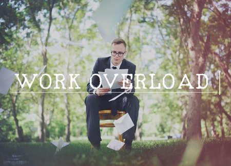 overtime: Work Overload Overtime Stress Management Concept
