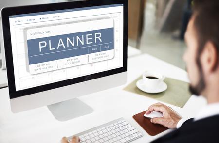cronograma: Agenda Appointment Plan Program Timetable Concept Foto de archivo