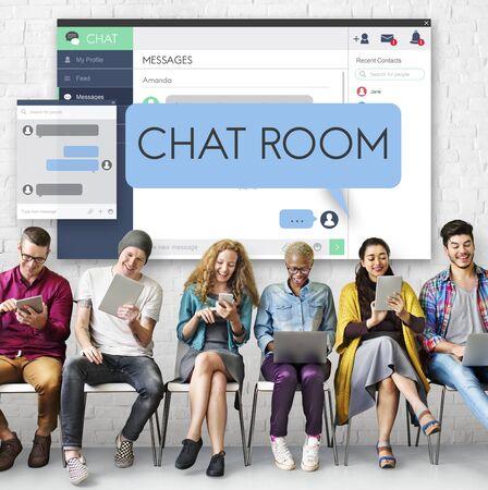 Chat Room Chatting Communication Connect Concept Фото со стока
