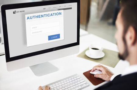 Authentication Permission Accessible Security Concept Reklamní fotografie