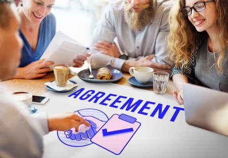 meet up: Business Agreement Deal Handshake Graphic Concept