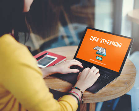 streaming: Data Streaming Downloading Information Internet Concept