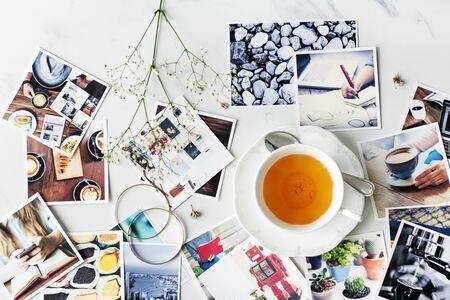 Caffè Time Break Concetto di rilassamento Archivio Fotografico