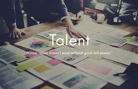 place of work: Talent Skills Abilities Expertise Professional Concept