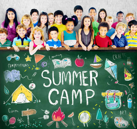 girl scout: Summer Kids Camp Adventure Explore Concept Stock Photo