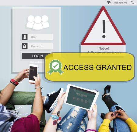 allowed: Access Allowed Entrust Password Secured Concept