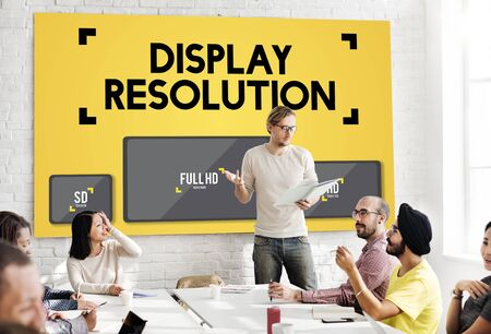 boardroom: Display Resolution Screen Modern Technology Concept