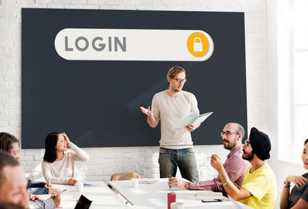 permission: Log In Accessible Permission Verification Security Concept Stock Photo