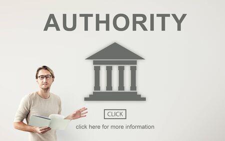 autoridad: Pilar Gobierno de la Autoridad concepto gr�fico