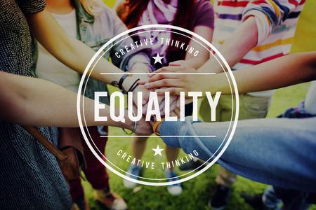 Equality Fair Parity Respect Balance Equal Fairness Concept Stock Photo