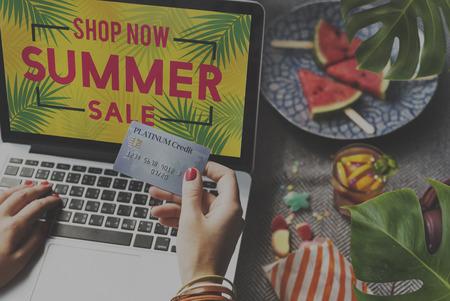 consumer: Summer Sale Annoucement Advertising Consumer Concept
