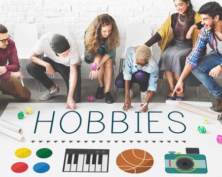 pastimes: Hobbies Leisure Lifestyle Pastime Fun Concept