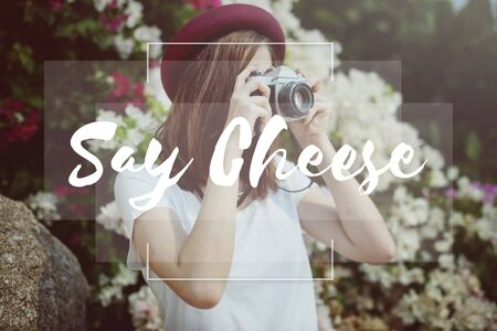 say cheese: Say Cheese Smile Enjoyment Fun Happy Happiness Concept