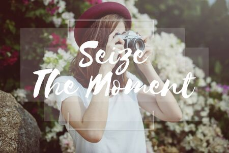 the moments: Seize Moments Enjoyment Positive Relaxation Concept
