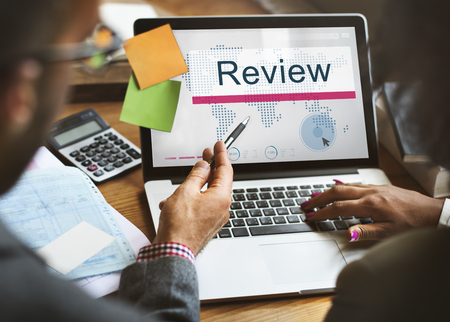 auditing: Review Audit Auditing Evalutate Report Rethink Concept Stock Photo