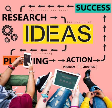 Ideas Success Planning Action Management Concept