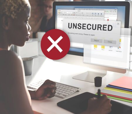 hack: Unsecured Virus Detected Hack Unsafe Concept