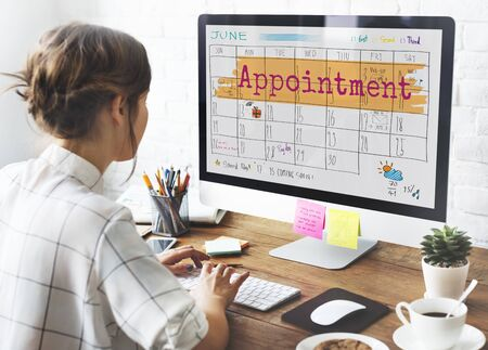 appointing: Appointement Agenda Calendar Meeting Reminder Concept