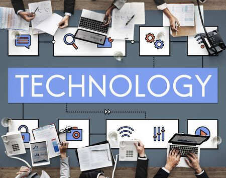 networked: Technology Connection Innovation Internet Communication Concept