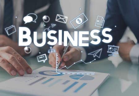 business partner: Business Businessman Money Growth Concept