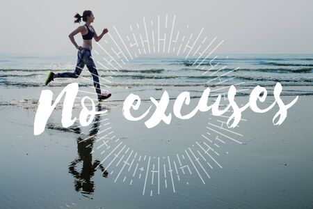 excuse: No Excuse Decision Determination Trying Positive Concept Stock Photo
