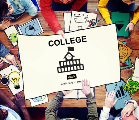 admissions: College Education Knowledge University Academic Concept Stock Photo