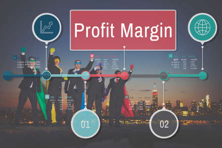 margen: Profit Margin Finance Income Sales Revenue Accounting Concept