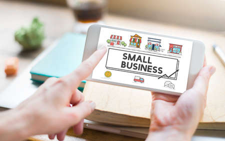 business media: Small Business Strategy Marketing Enterprise Concept