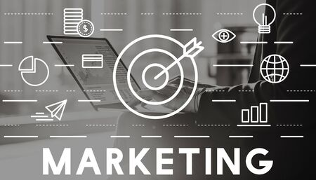 marketing target: Marketing Advertising Commercial Strategy Concept