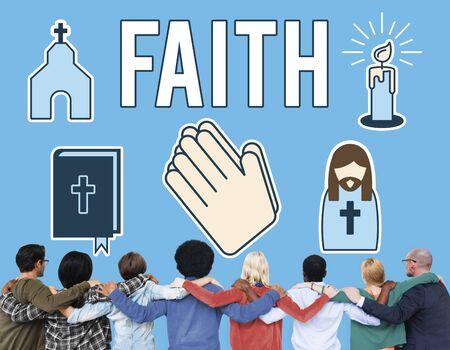 Faith Belief Believe Confidence Conviction Hope Concept Stock Photo