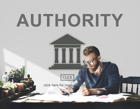 autoridad: Authority Government Pillar Graphic Concept