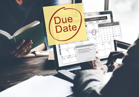 Due Date Deadline Payment Bill Important Notice Concept