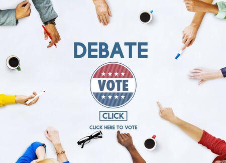 Dibattito Conversazione Depute Parlare Concetto