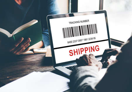 tracking: Bar Code Order Tracking Number Concept Stock Photo