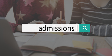 entry admission: Admission College Education Entry Learning Text Concept
