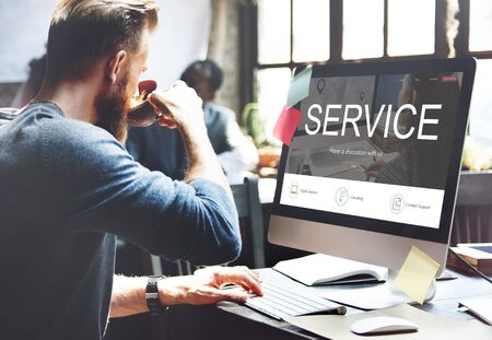 joining services: Contact Register Feedback Support Help Concept