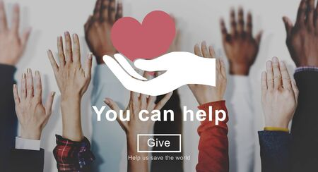 You Can Help Give Welfare Donate Concept
