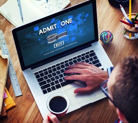 flick: Movie Cinema Ticket Graphic Concept