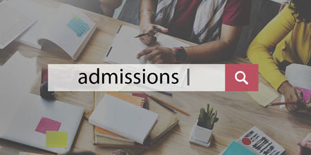 Admissions Education Knowledge Wisdom School Concept Stock Photo