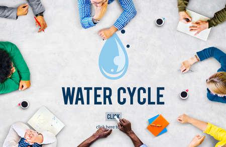 condensation: El ciclo del agua de condensación evaporación Concepto Natural lluvia Foto de archivo