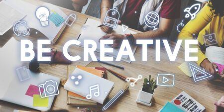 book reviews: Creativity Design Process Graphics Concept Stock Photo