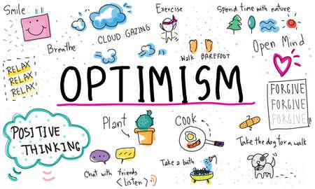 optimismo: La atención plena optimismo Relax Concepto Armonía Foto de archivo