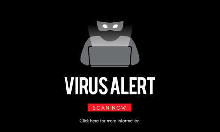 Scam Virus Spyware Malware Antivirus Concept Stock Photo
