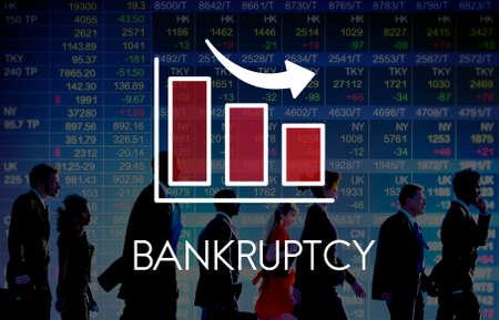 recession: Recession Decrease Business Barchart Concept