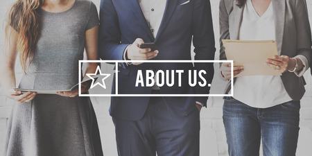 Über uns Kontakt Business Concept