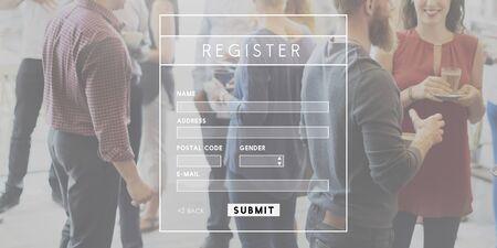 signup: Register Registration Signup Login concpet