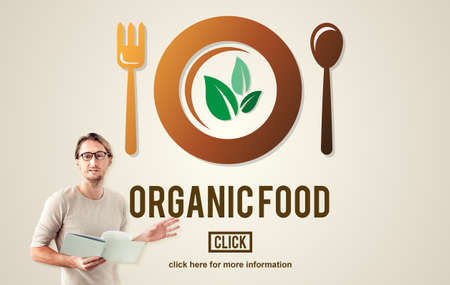 loss leader: Organic Food Healthy Nourishment Concept Stock Photo