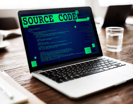 source code: Source Code Analysis Binary Computer Internet Concept