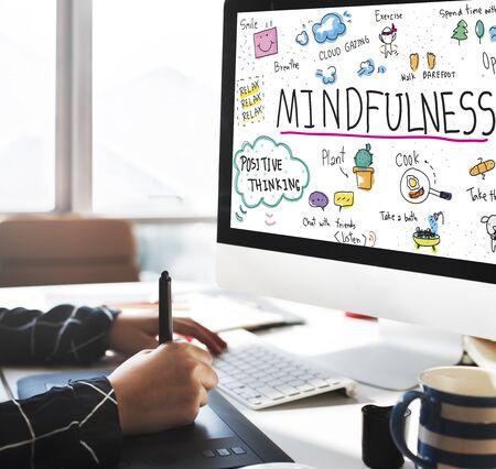 mindfulness: Mindfulness Optimism Relax Harmony Concept