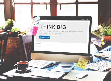 creative idea: Think Idea Creative Conceptualize Design Concept Stock Photo